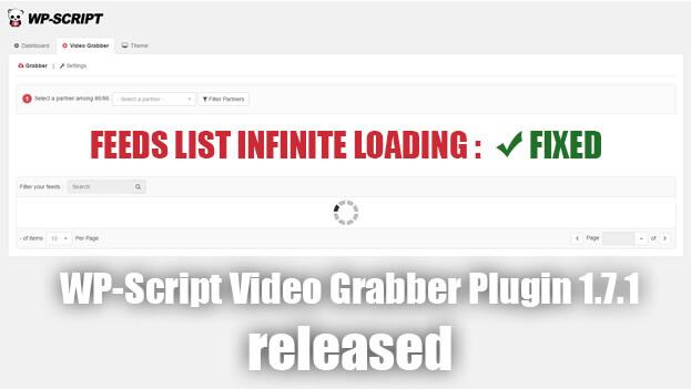 WP-Script Video Grabber Plugin 1.7.1