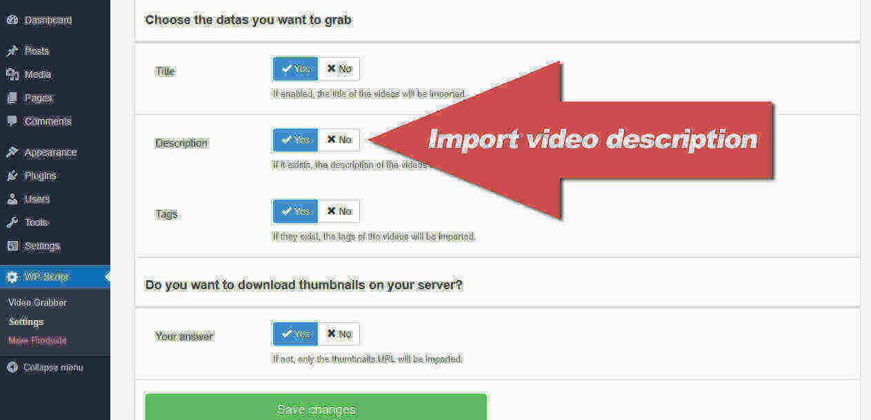 Import video description